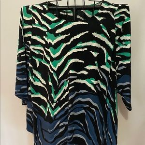 ✅ 3 for $15 ✅ NWT Alfani top w green and blue
